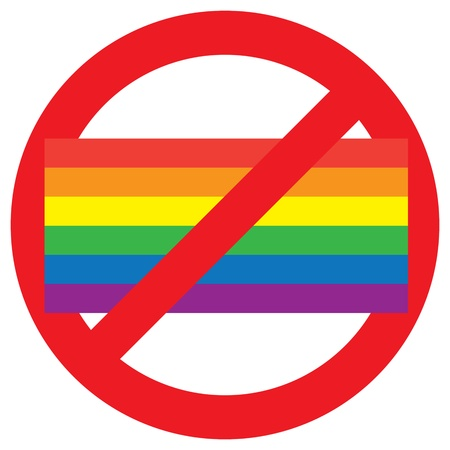 homosexual: homosexual forbidden sign isolated on white background