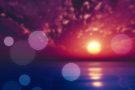 purple sunset: purple sunset over tropic sea blurred background