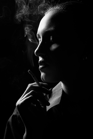 Smoking Sad Stock Photos And Images - 123RF