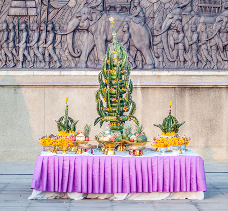 ism: Phan baisri use for tradition in temple, north eastern, Thailand
