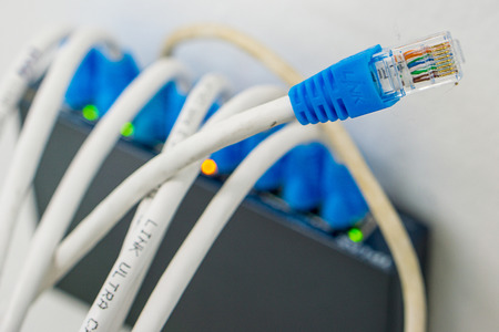 providers: Network LAN cables in the modem.