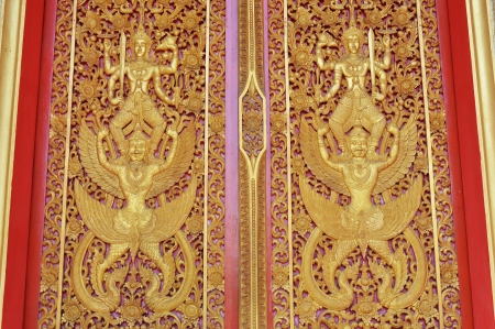 thai texture in temple door
