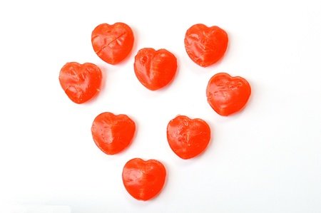 valentinas: red heart candy isolated