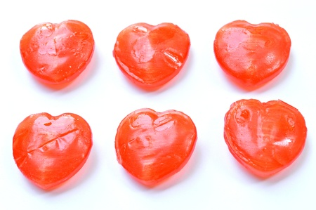 red heart candy isolated