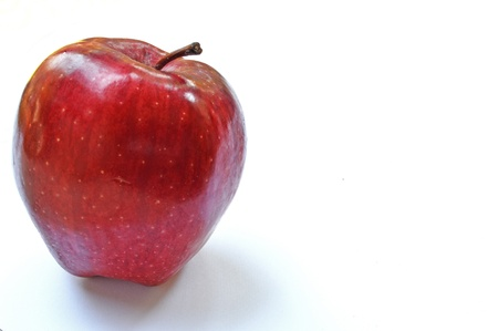 Fresh red apple on white  Stock Photo