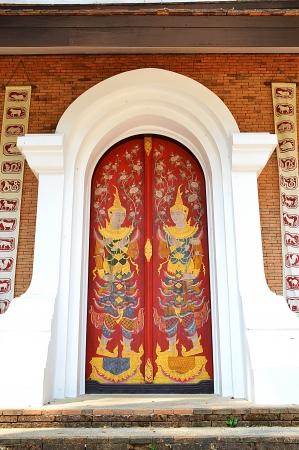 Thai art painting on the temple door Stock Photo - 18113945
