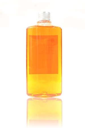 Organic shower gel isolated on white background