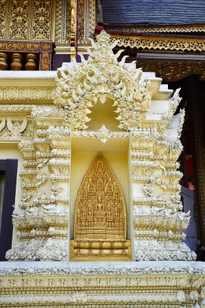 arch of golden buddha in Lamphun, Thailand Stock Photo - 18656229