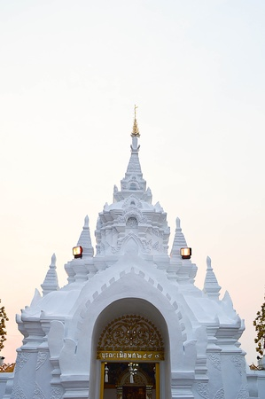 thai Buddhist Temple arched entrance Stock Photo - 18656177