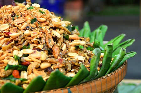 Thai style Roasted peanuts with herb spices