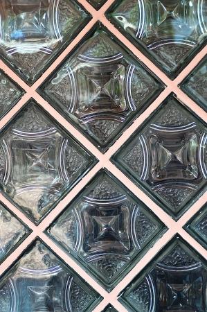 glass block wall on modern buildings