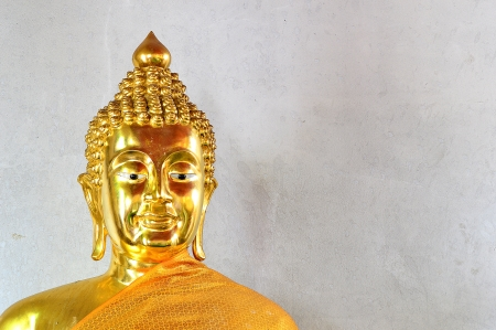 Thai Golden Buddha Statue  Buddha Statue in Thailand Stock Photo - 19510380