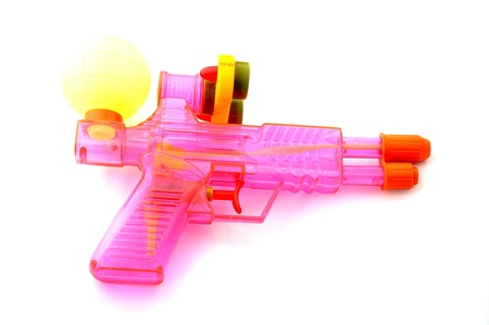 watergun: colorful watergun isolate on white background
