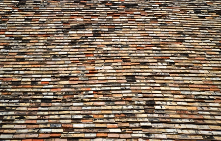 old home roof use for background, Chiangmai Thailand Stock Photo