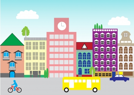 citylife: colorful town Illustration