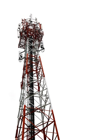 mobilephone tower isolate on white background