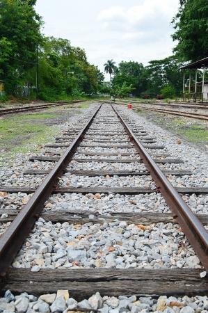 thailand railway tracks  in Chiang Mai Railway Station