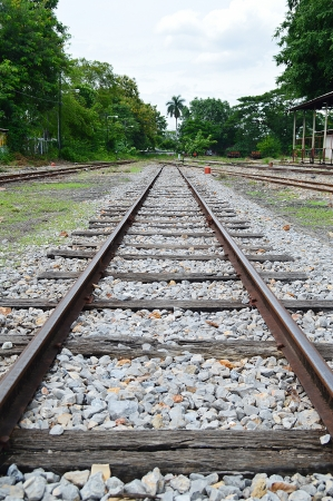 thailand railway tracks  in Chiang Mai Railway Station