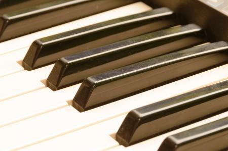 Piano keys - Musical Instrument Stock Photo