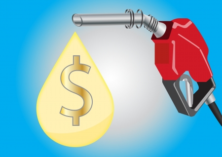 Fuel Dispensers with fuel drop and money symbol inside Vector