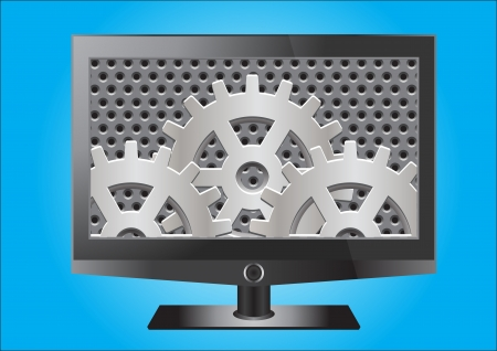 LCD Television vector images