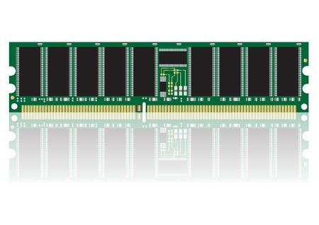 dimm: computer ram vector images