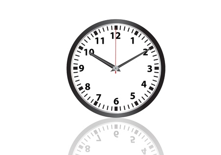 clock face: wall clock vector images Illustration