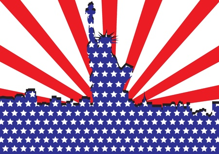 America Liberty or 4th of July independent day vector images