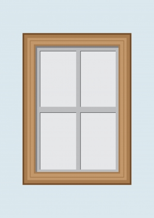 Wooden closed window  Vector illustration