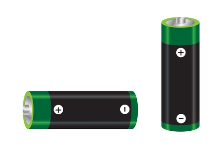 rechargeable: AA size battery vector images