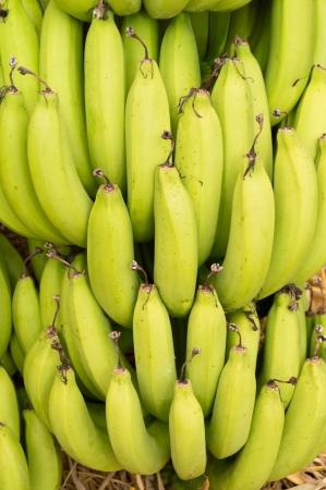 heap of green banana Stock Photo