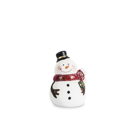 Isolated christmas Snowman Stock Photo