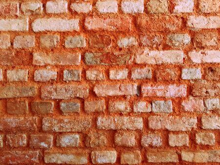 orange red texture brick wall