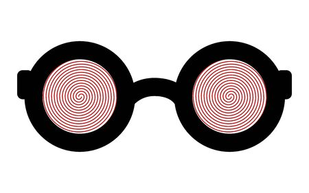 Hypnotic glasses isolated on a white background.
