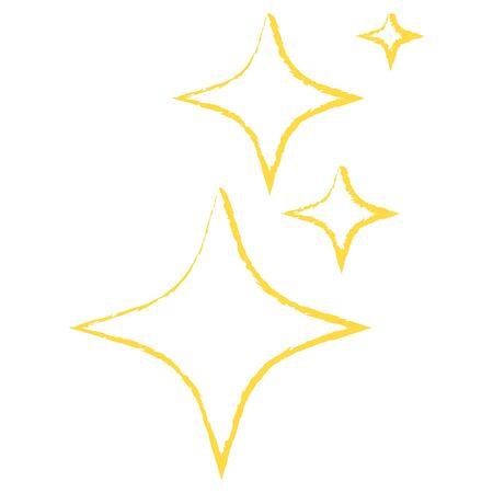 Icon yellow smbol Shine. Vector illustration. Illustration