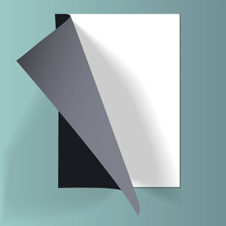 A4 paper with curled sheets. Isolated vector object. Vektorgrafik