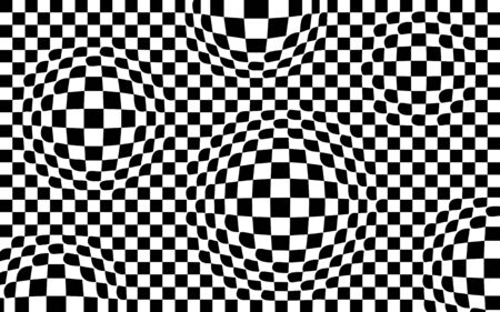 Optical illusion - parallel lines made from black and white pillows EPS10 Vector Illustration 向量圖像