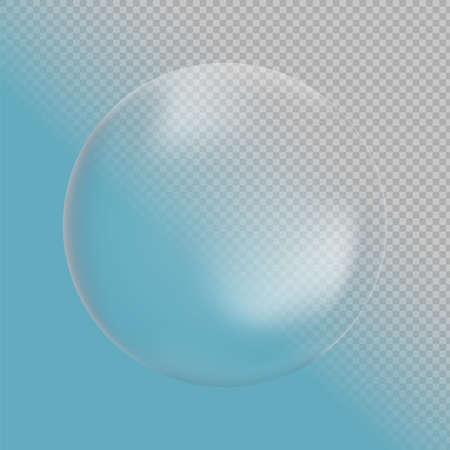 Realistic transparent ball. Isolated vector object on transparent background. EPS 10