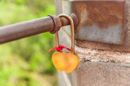 24 May 2013 at Great Wall of China,lovers like to lock bar for forever love Stock Photo - 22152987