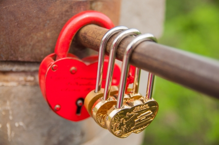24 May 2013 at Great Wall of China,lovers like to lock bar for forever love Stock Photo - 22152992