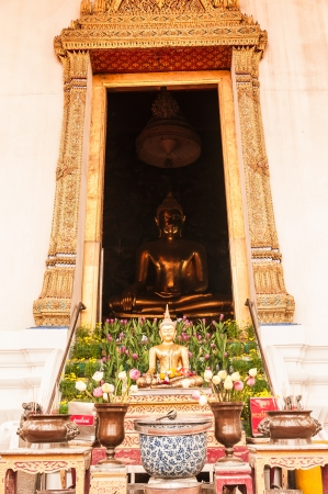 BANGKOK,THAILNAD-JULY 20,2013:Beautiful budha in chapel of Wat Suthat on 20 July 2013 photo