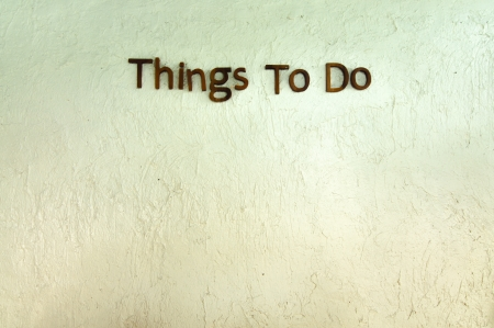 things to do: Things to do wall Stock Photo