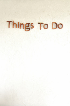 things to do: Things to do wall