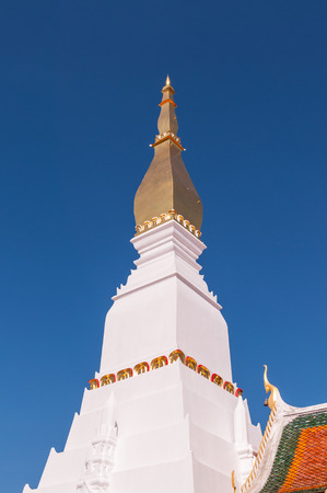 stu: Main pagoda of Phra That Choeng Chum,a major and sacred religious monument of Sakon Nakhon Province Stock Photo