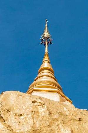 stu: Close up of golden stu pa in Wat Tham Pha Daen