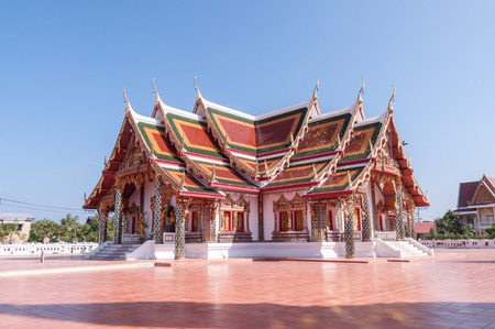 chum: Beautiful chapel in Phra That Choeng Chum,a major and sacred religious monument of Sakon Nakhon Province Stock Photo