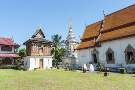 sight seeing: Nan, Thailand- October 14,2015: sight seeing around Wat Suan Tan while nobody on sunny day