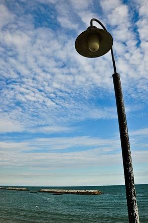 cold sky at sea photo