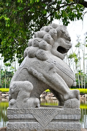 blessed: lion statue