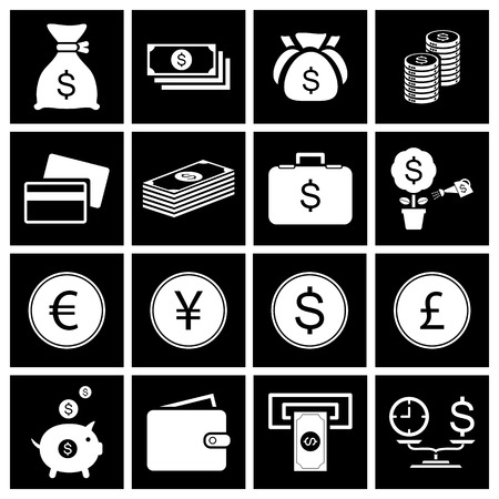 Money icon set  Vector Vector